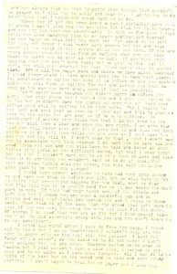 August 15, 1918 letter from Minnie Wilson to Jake Schomber. Page 2.