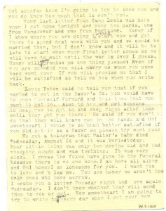 August 15, 1918 letter from Minnie Wilson to Jake Schomber. Page 3.