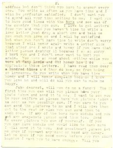 August 15, 1918 letter from Minnie Wilson to Jake Schomber. Page 4.