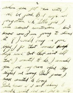 August 14, 1918 letter from Jake Schomber to Minnie Wilson. Page 2.