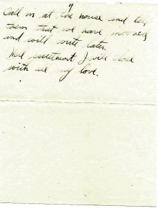 August 14, 1918 letter from Jake Schomber to Minnie Wilson. Page 4.
