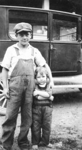 Lawrence Campbell (left) with little sister Jean, circa 1928.