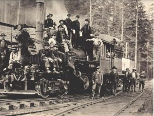 Preston Mill Co. Locomotive Crew