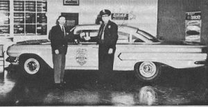 Forrest Goodrow with new patrol car.