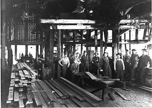 Planer Shed at Monohon Mill
