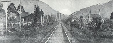Railroad Tracks into town