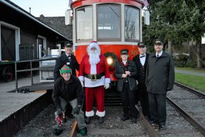 Santa and the Trolley Crew.