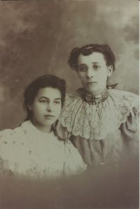 Eva Borst (at left) and Emma Lane Fisk, circa 1900