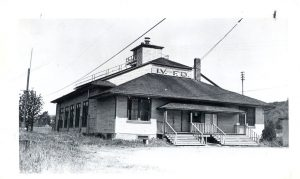 Issaquah's fire hall, circa 1940.