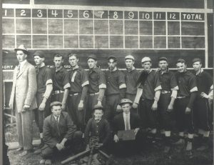 1910 Issaquah baseball team. Joe Pedegana is 6th from the left in the back row.